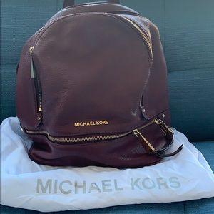 Michael Kors Bordeaux  leather backpack